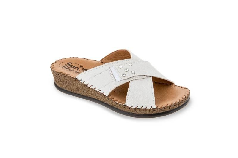Γυναικεία ανατομική δερμάτινη παντόφλα Sunshine 2033 shoes