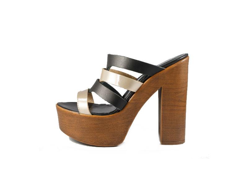 a6e51a78834 Anatomic Footwear Γυναικείο δερμάτινο σανδάλι μαύρο/μπρονζέ Kokka Shoes  (8249)