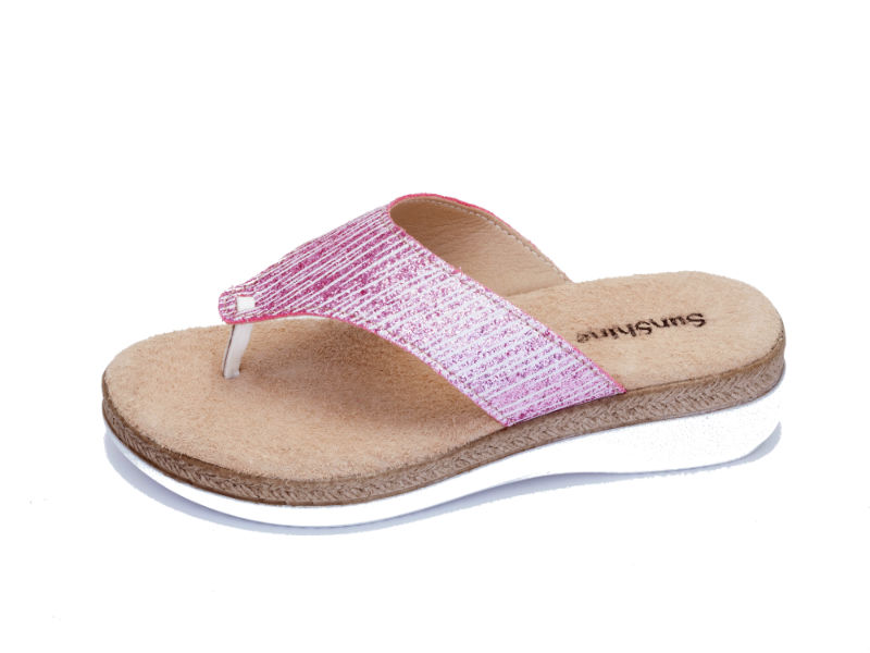 Aνατομικό γυναικείο δερμάτινο ροζ σανδάλι Sunshine (2241)