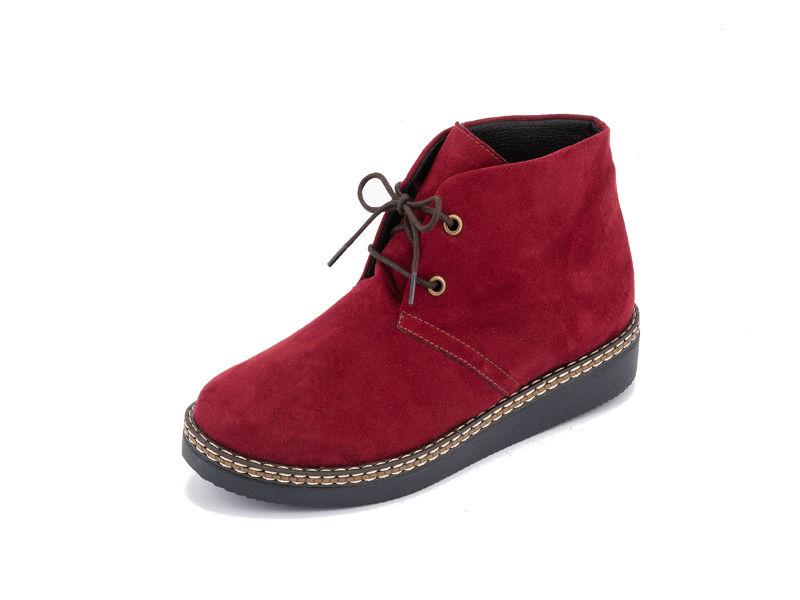 Γυναικείο ανατομικό μποτάκι σουέτ κόκκινο Sunshine (1436) - Roe Shoes  Collection 3ff82a272ef