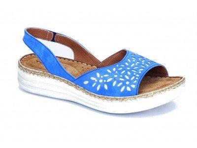 Ανατομικό γυναικείο δερμάτινο πέδιλο SaveYour Feet 7004